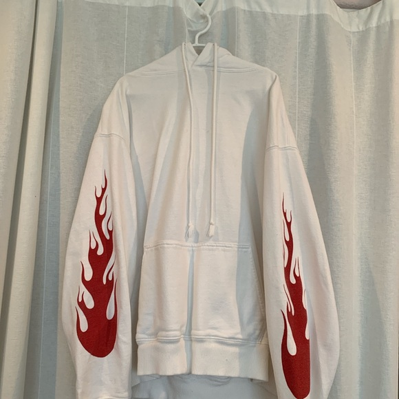 Red flame Brandy Melville hoodie